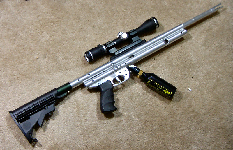All Aluminum Paintball (and Nerf) Bolt-action Rifle