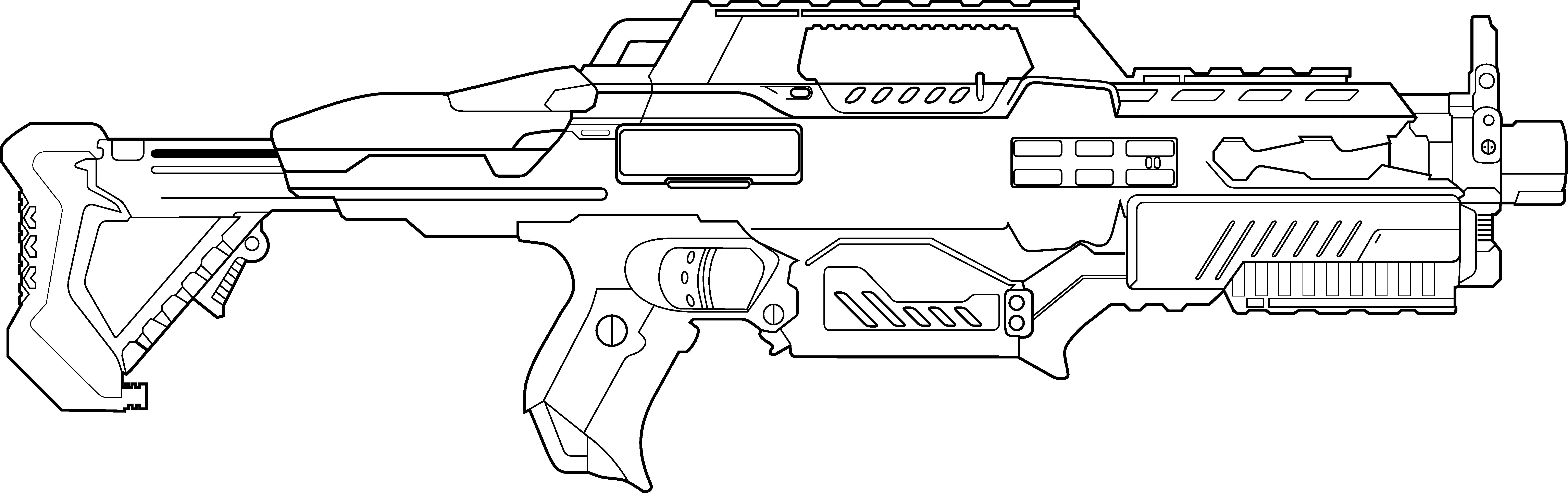 nerf pistool kleurplaat ausmalbild fn scar sturmgewehr